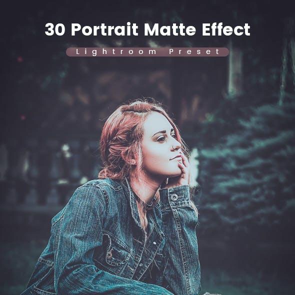 30 Portrait Matte Effect Preset
