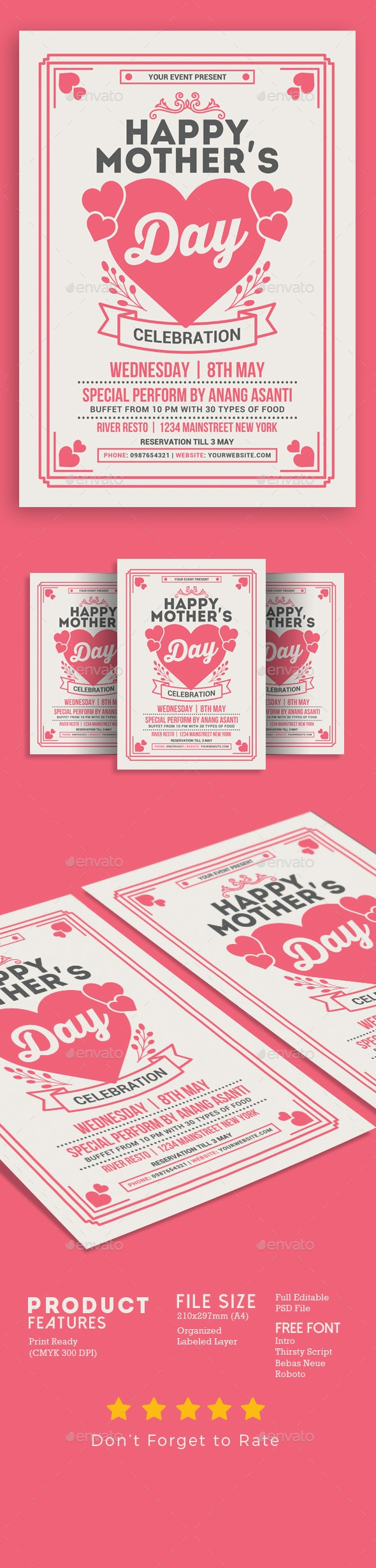 Mother's Day Celebration - Events Flyers