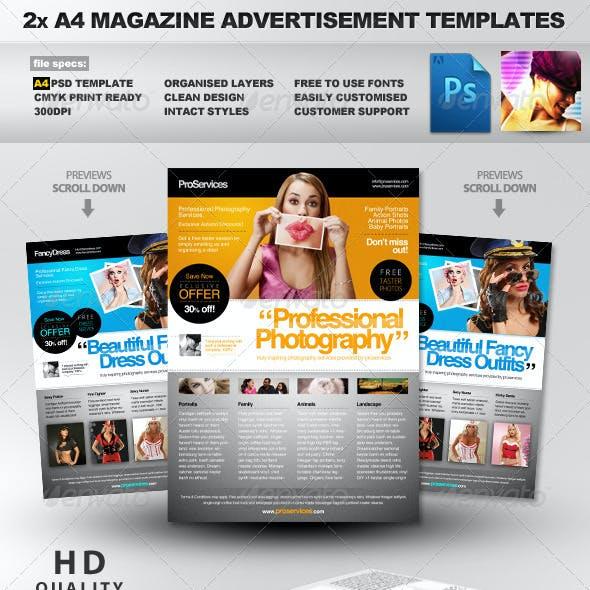 Pro Services - 2 A4 Magazine Ad Templates