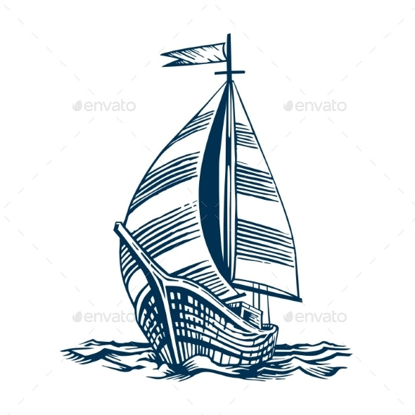 Sailing Ship on the Waves - Buildings Objects