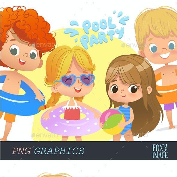 Pool Party Kids Set2