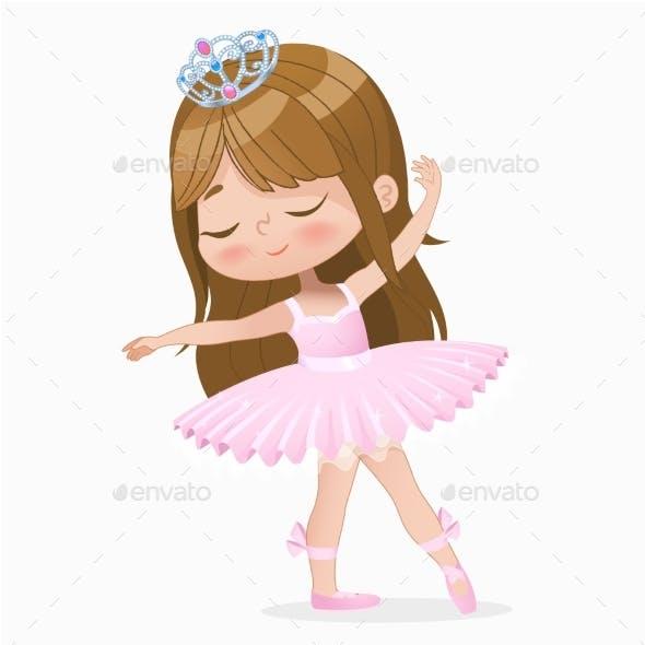 Brown Hair Girl Ballerina