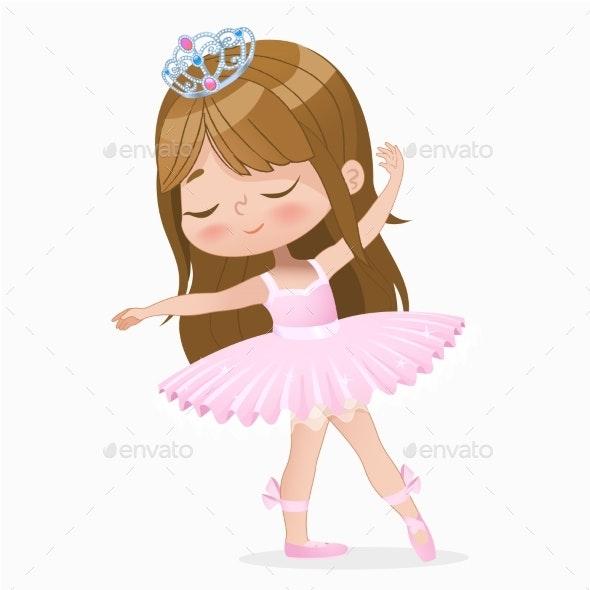 Brown Hair Girl Ballerina - People Characters