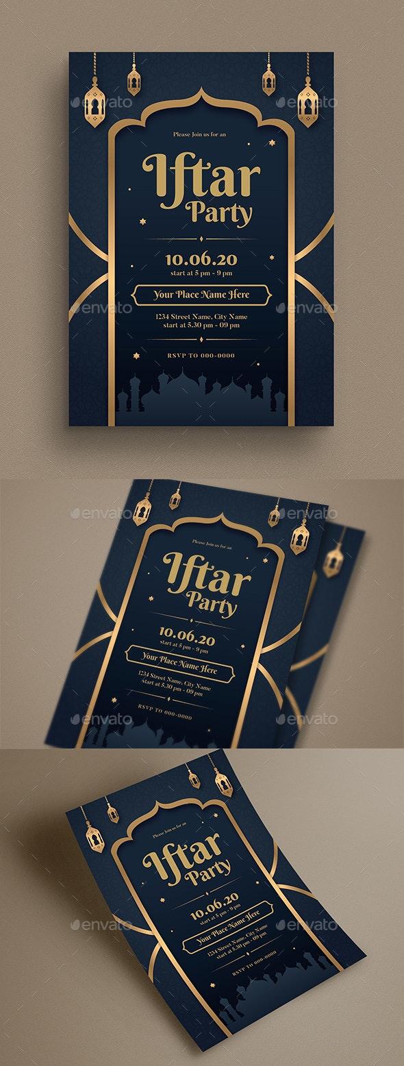 Iftar Party Invitation Flyer - Flyers Print Templates