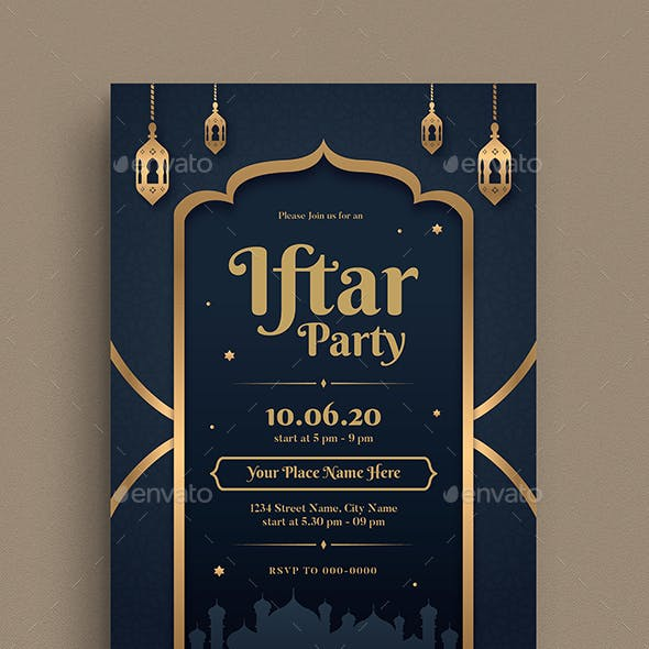 Iftar Party Invitation Flyer