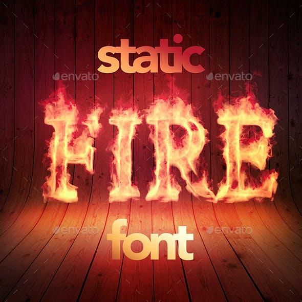 Fire Font / Alphabet -Static Version