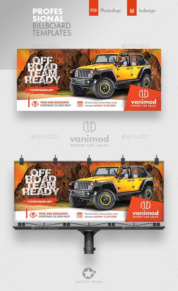 Car Sales Billboard Templates - Signage Print Templates