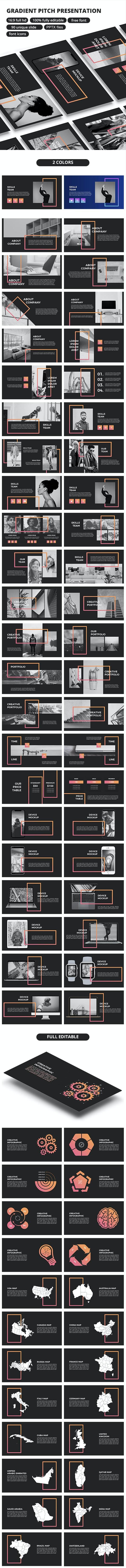 Gradient Pitch - Google Slide - Google Slides Presentation Templates