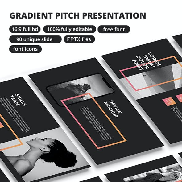 Gradient Pitch - Google Slide