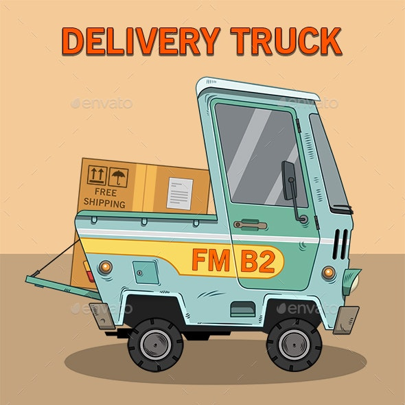 Delivery Truck - Business Illustrations