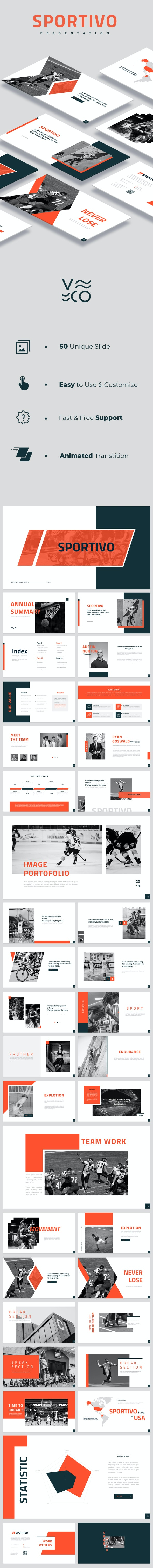 Sportivo Google Slides - Google Slides Presentation Templates