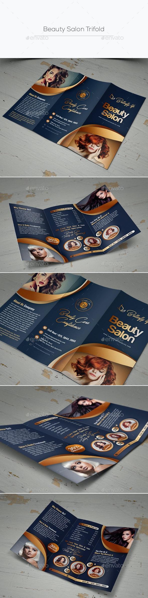 Beauty Salon Trifold - Corporate Brochures