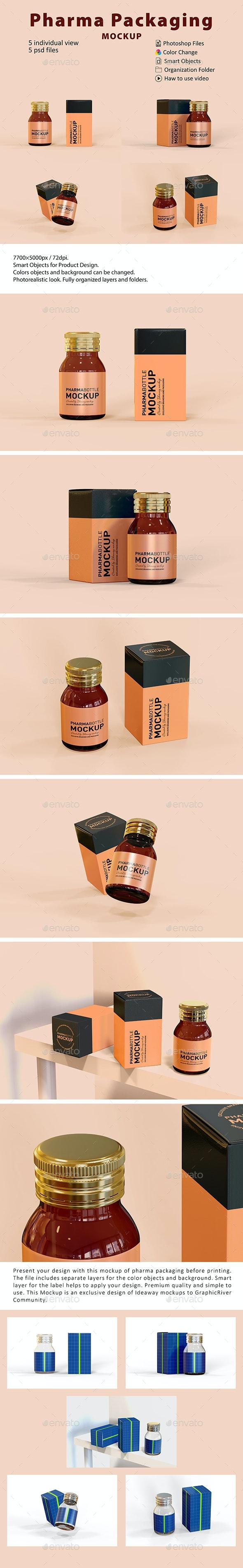 Pharma Packaging Mockup - Beauty Packaging