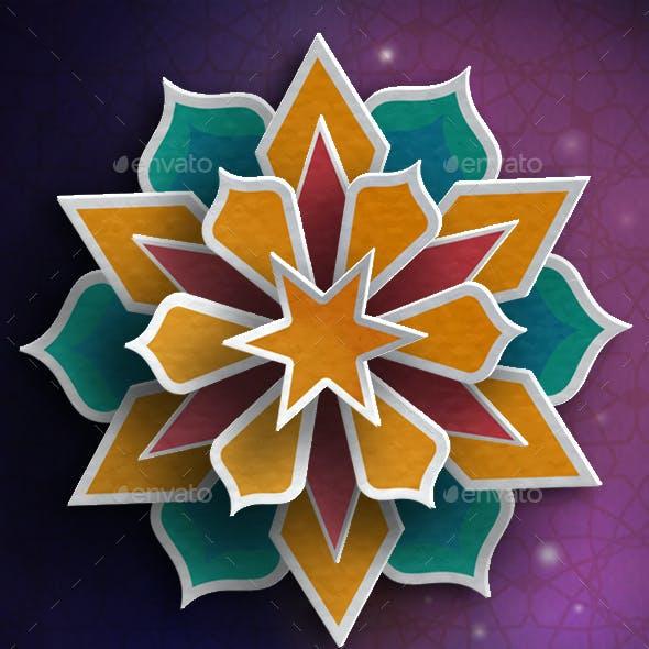 Colorful Paper Ramadan