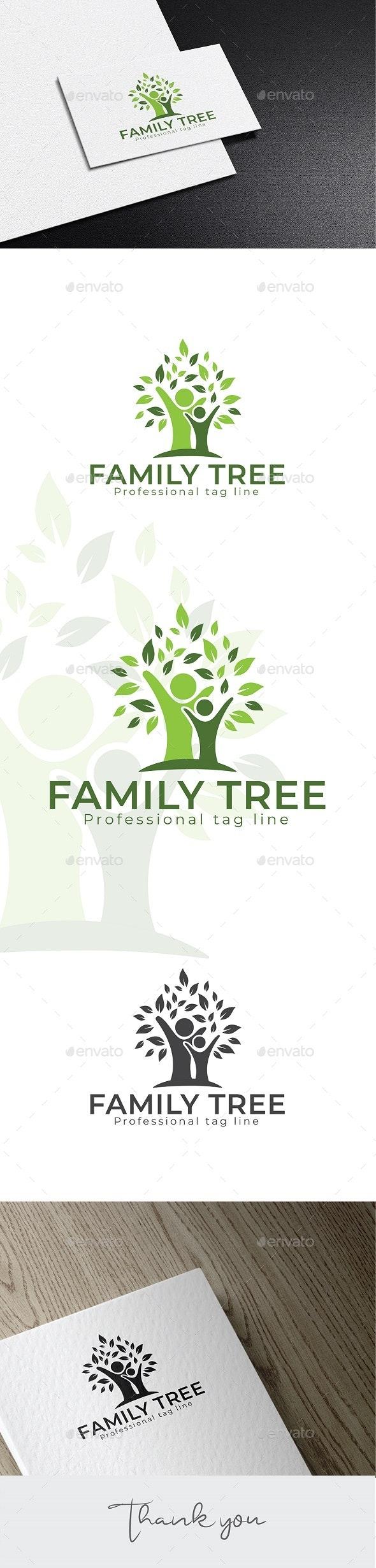 family tree logo desing - Humans Logo Templates
