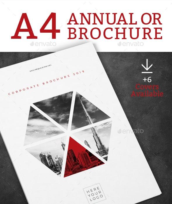 Corporate Brochure Sage A4 - Brochures Print Templates