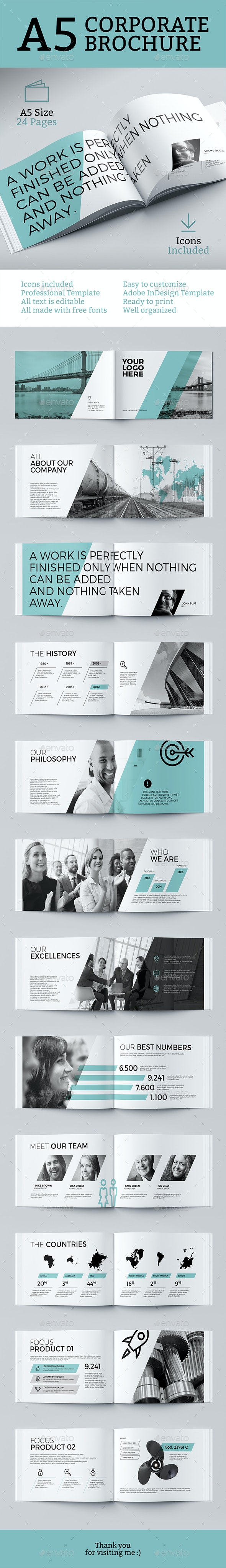 Corporate Brochure Air - A5 - Brochures Print Templates