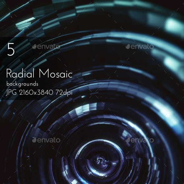 Radial Mosaic Techno Surface