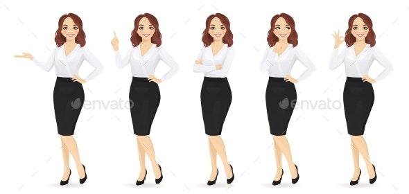 Elegant Business Woman - People Characters