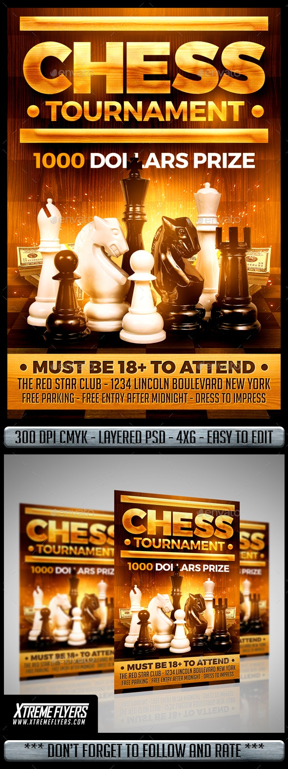 Chess Tournament Flyer - Miscellaneous Events