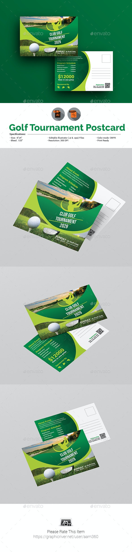 Golf Tournament Postcard Template - Cards & Invites Print Templates