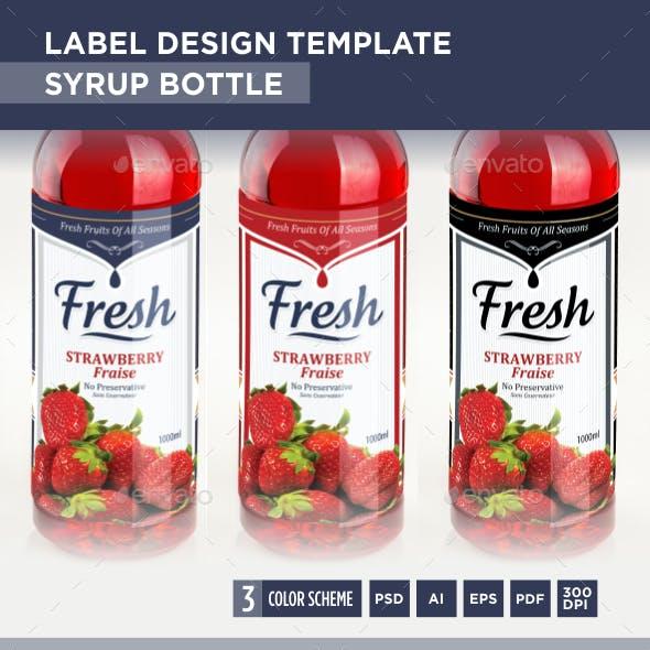 Syrup Bottle Label Design Template