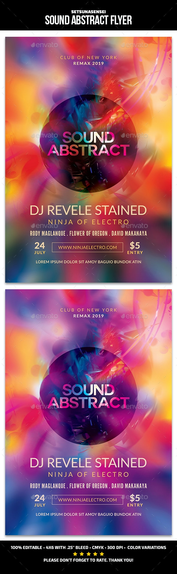 Sound Abstract Flyer - Events Flyers