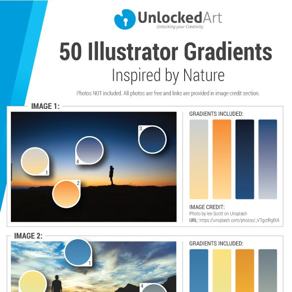 50 Illustrator Gradients Inspired by Nature