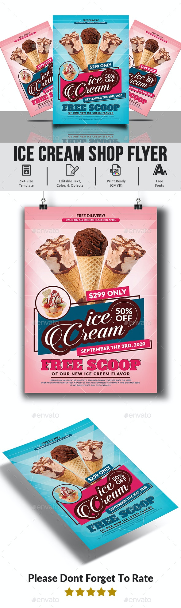 Ice Cream Flyer Template - Commerce Flyers
