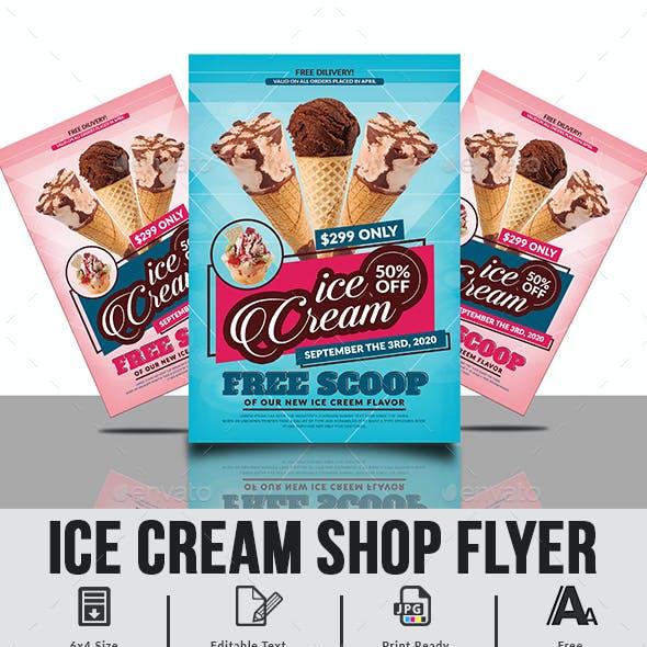 Ice Cream Flyer Template