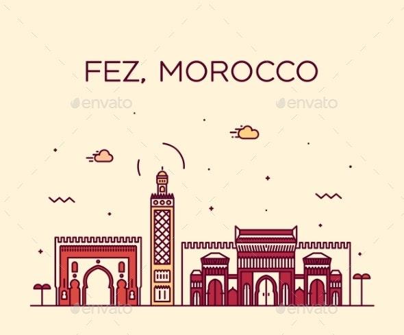 Fez Skyline Morocco - Buildings Objects