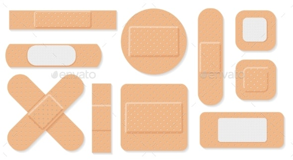 Medical Plasters Set - Health/Medicine Conceptual
