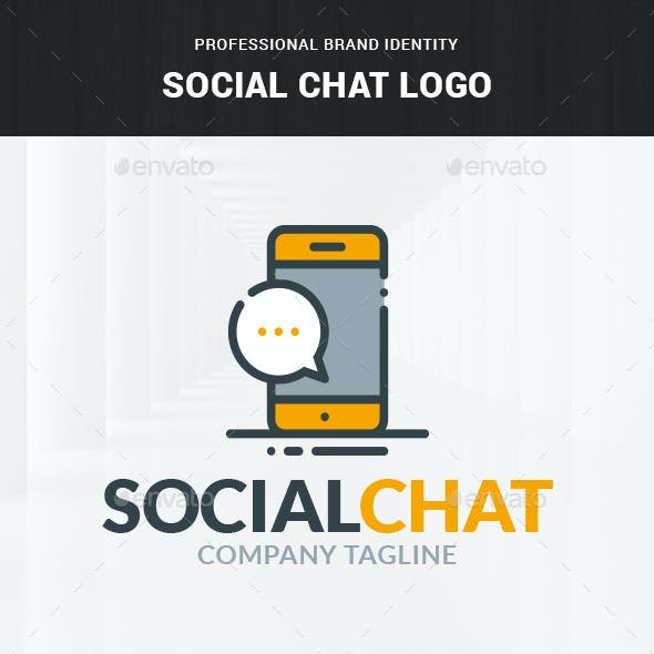 Social Chat Logo Template