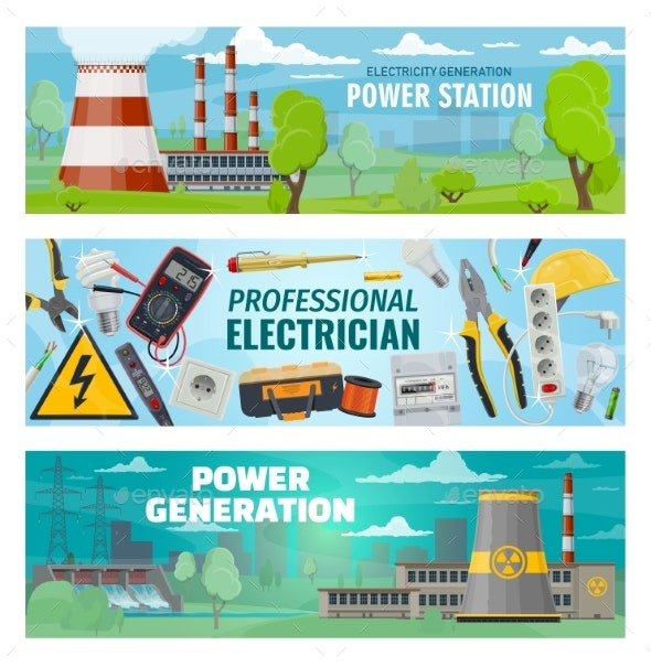 Electrician Tools, Electricity Power Stations - Industries Business
