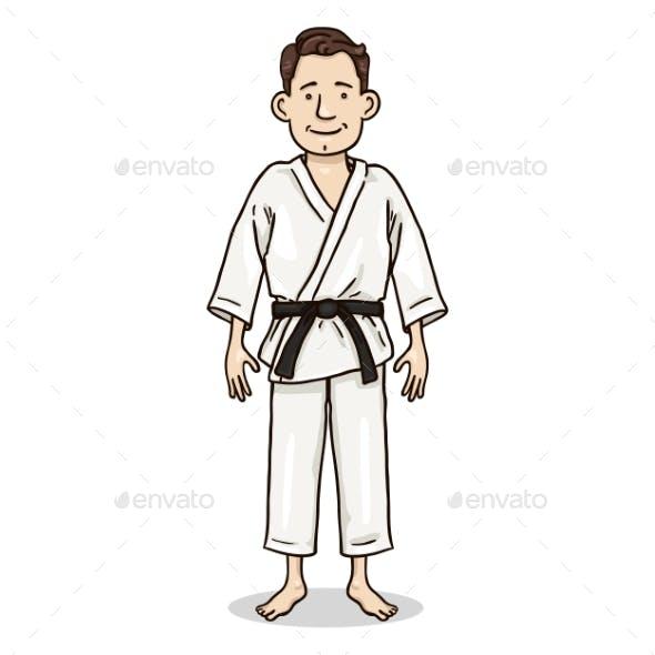 Vector Cartoon Color Character - Young Man