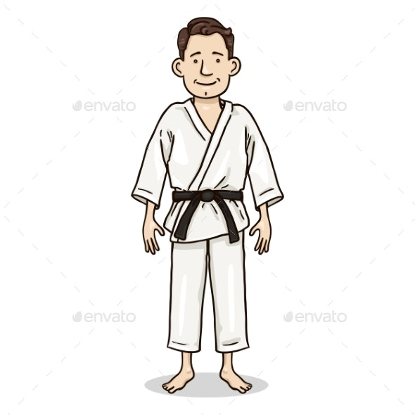 Vector Cartoon Color Character - Young Man - People Characters