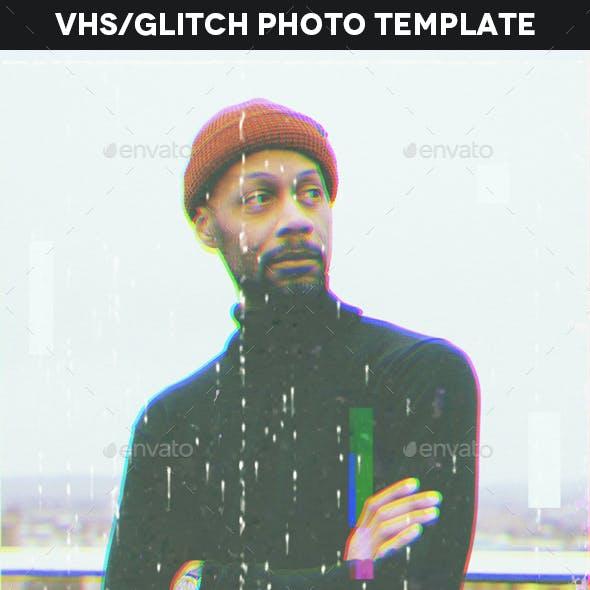 Glitch Vhs Photo Template