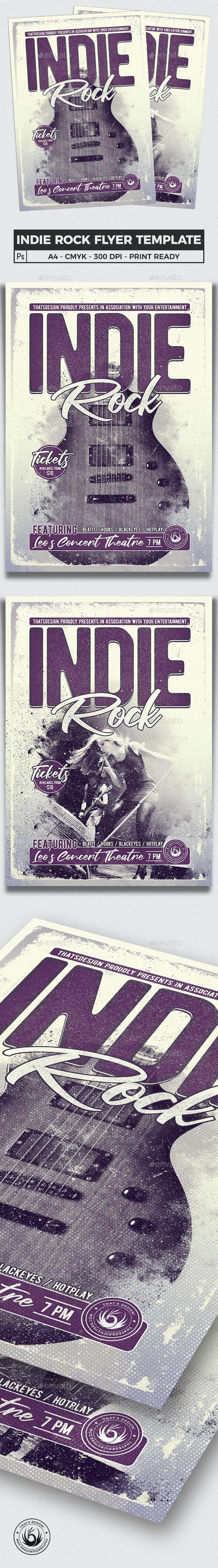 Indie Rock Flyer Template V3 - Concerts Events