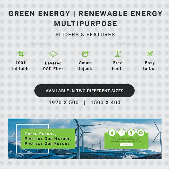 Green Energy Slider