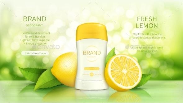 Promo Poster for Dry Stick Deodorant - Health/Medicine Conceptual