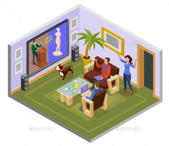 Auction Isometric Composition - Industries Business