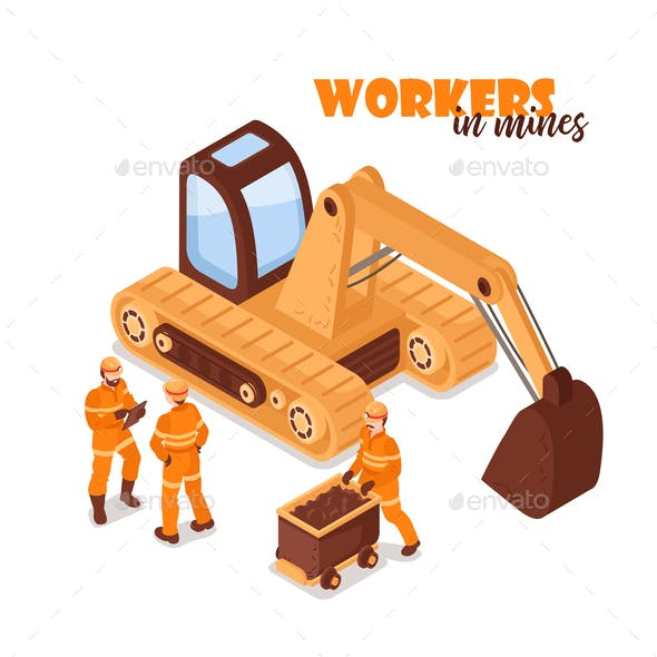 Workers in Mines Background