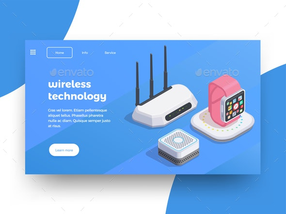 Modern Wireless Devices Background - Business Conceptual