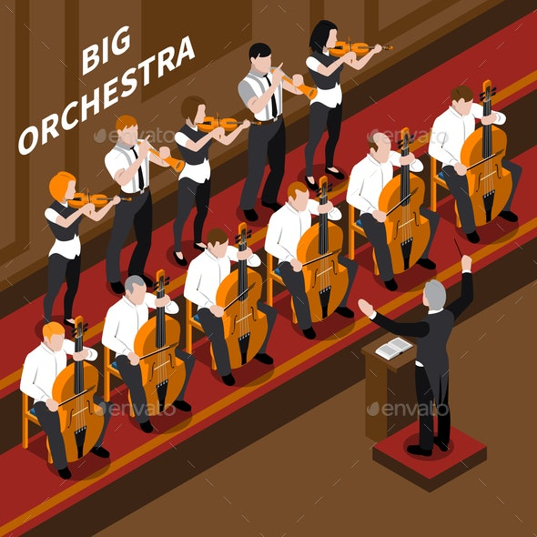 Music Isometric Composition - People Characters