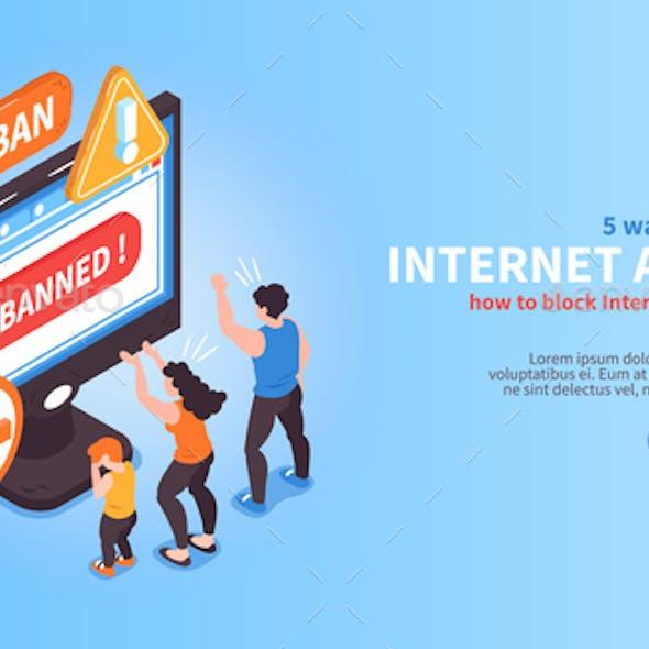 Disable Internet Access Banner