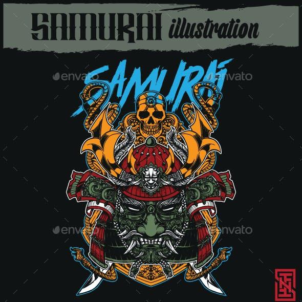 Samurai Shield Illustration