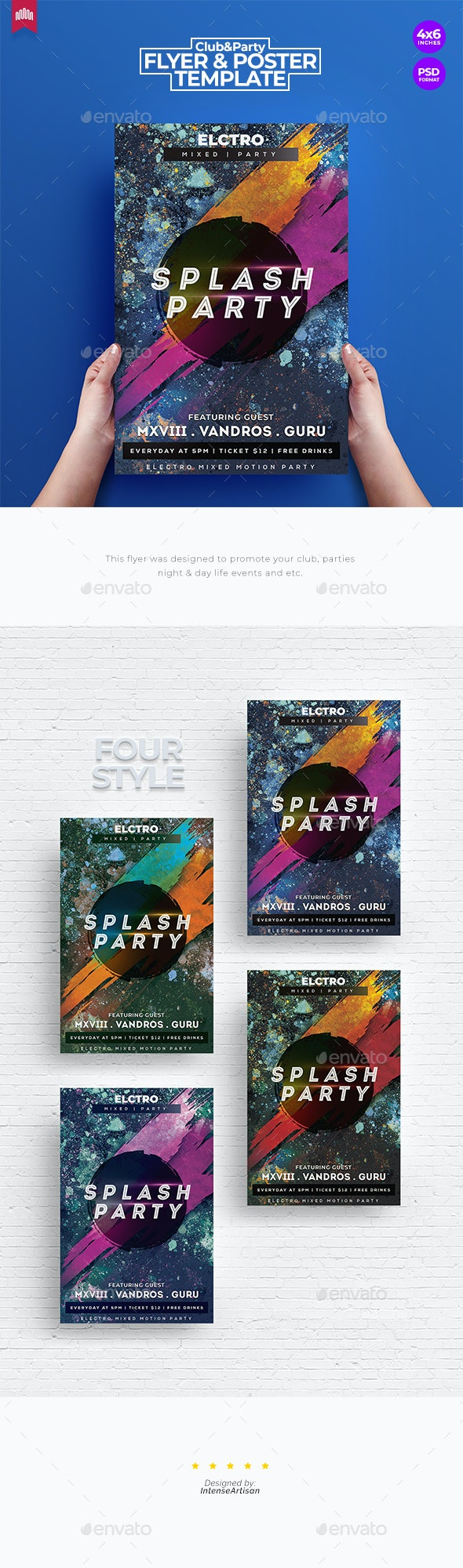 Splash Party - Flyer Template - Clubs & Parties Events