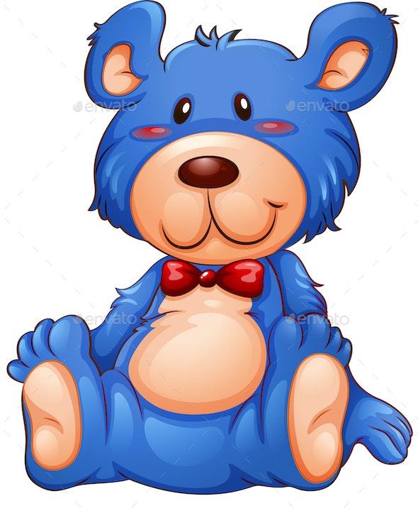 Blue Teddy Bear - Animals Characters