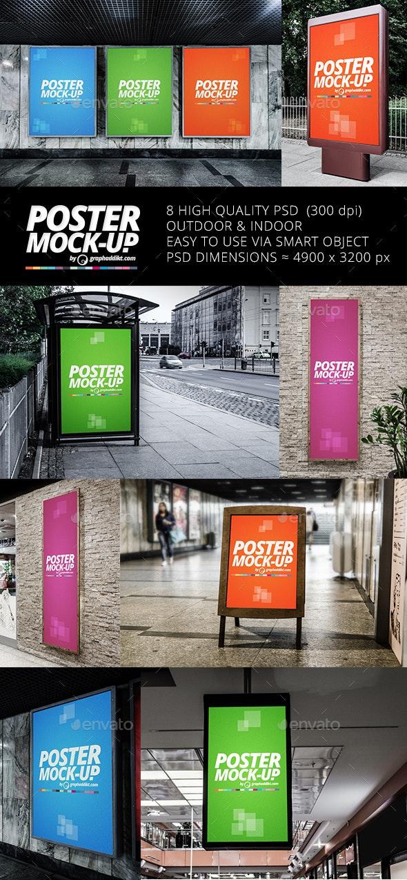 Poster Mockups - Product Mock-Ups Graphics