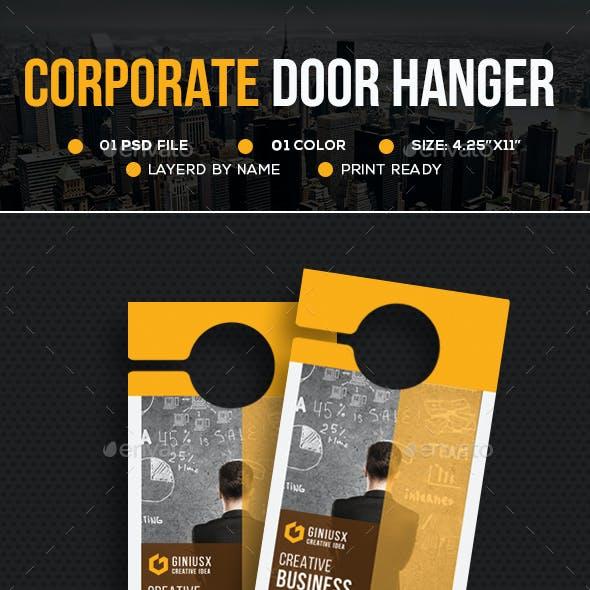 Corporate Door Hanger